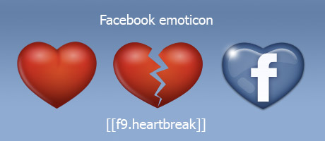 Facebook emoticon cuore spezzato