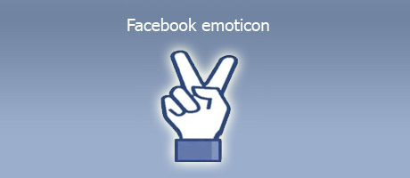 Facebook emoticon simbolo vittoria