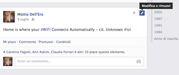 Come modificare un post su Facebook