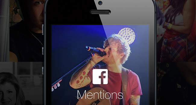 Facebook Mentions iPhone